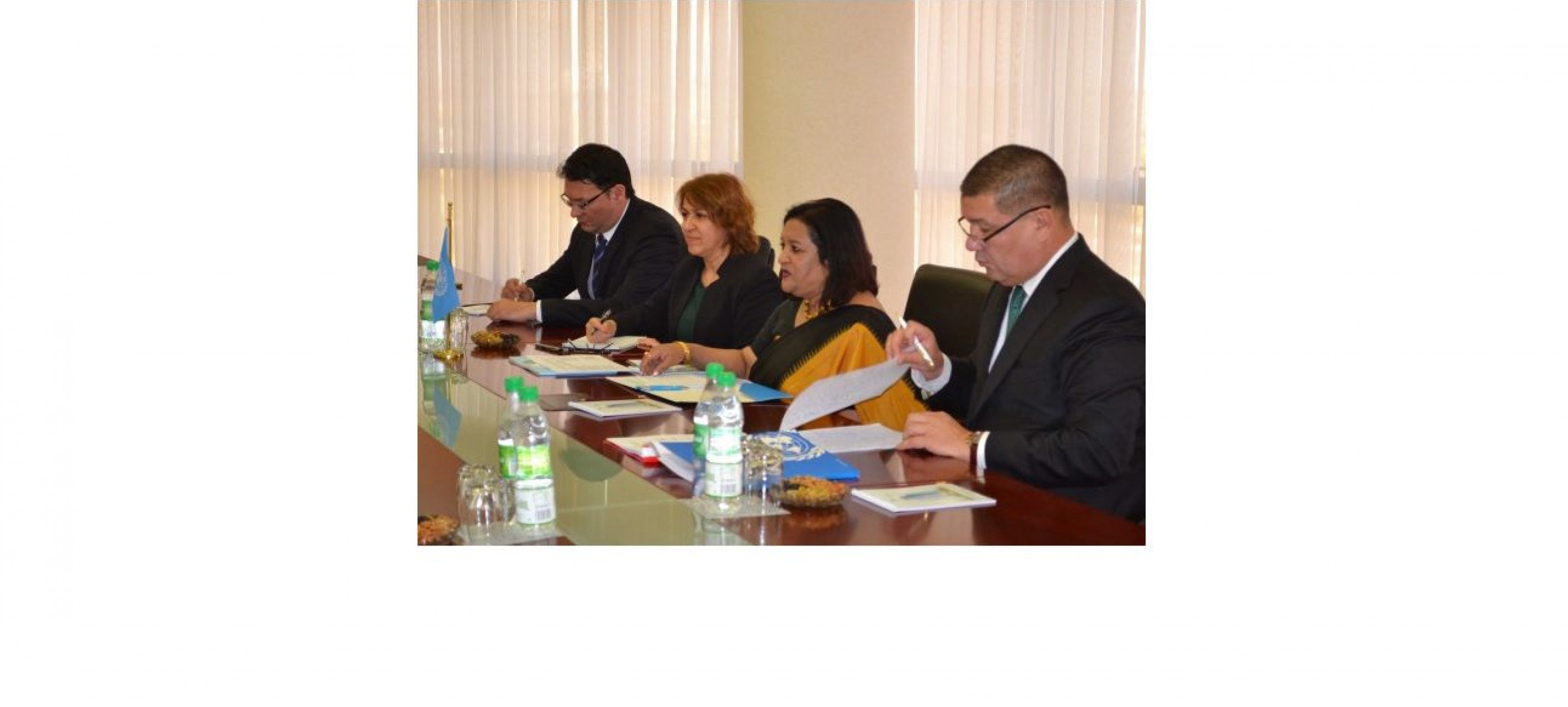 A MEETING WITH REPRESENTATIVES OF THE UNODC WAS HELD AT THE MFA OF TURKMENISTAN